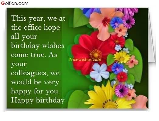 birthday message for office colleague ; Awesome-Birthday-Wishes-For-Colleague-E-Card