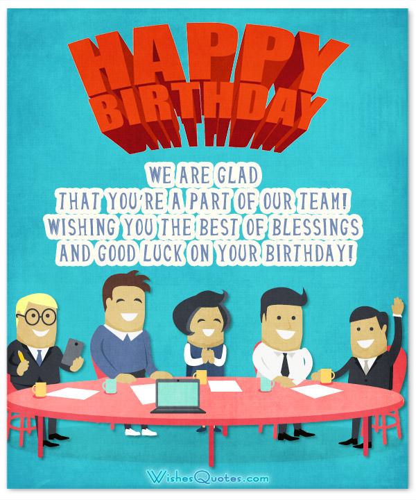 birthday message for office colleague ; Colleague-Team-Birthday-Wishes-Card