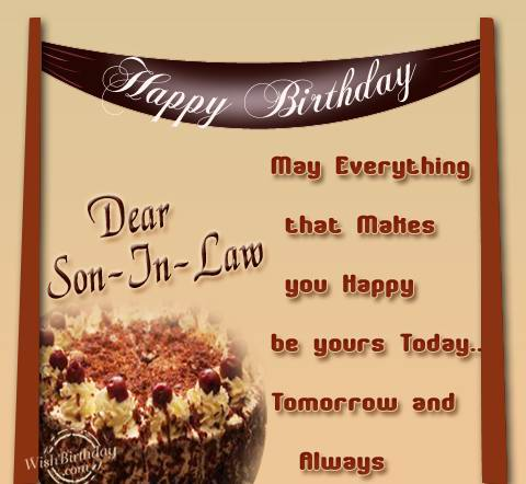 birthday message for son in law ; 612