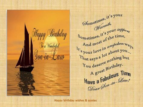birthday message for son in law ; c46a05ac366ee166eecb24755bd7a9c4