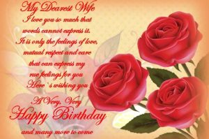 birthday message for wife in english ; happy-birthday-wishes-for-wife-300x199