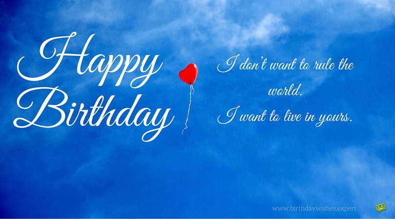 birthday message for wife on facebook ; Birthday-wish-for-my-wife-with-red-ballon-up-in-the-sky