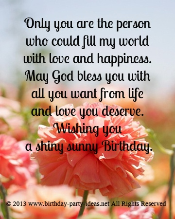 birthday message for your love ; b2a402651aa7fd08c1049c49c2c5cb6e--birthday-sayings-birthday-messages