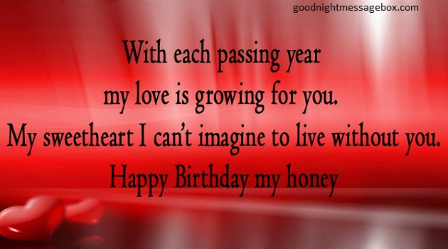 birthday message for your love ; hpy6