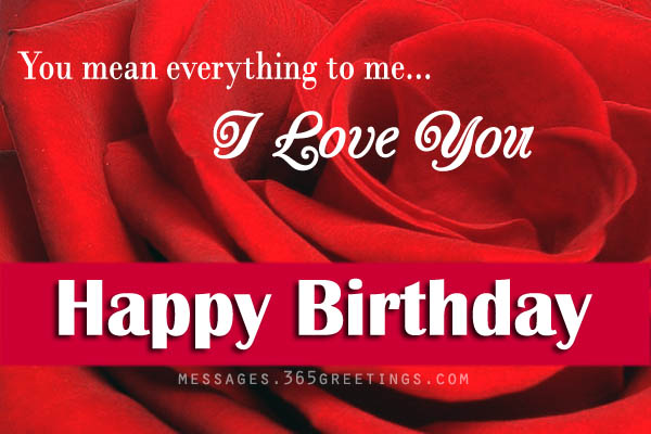 birthday message for your love ; love-birthday-wishes