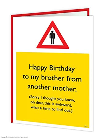 birthday message to a brother from another mother ; 61dHmlk8hWL
