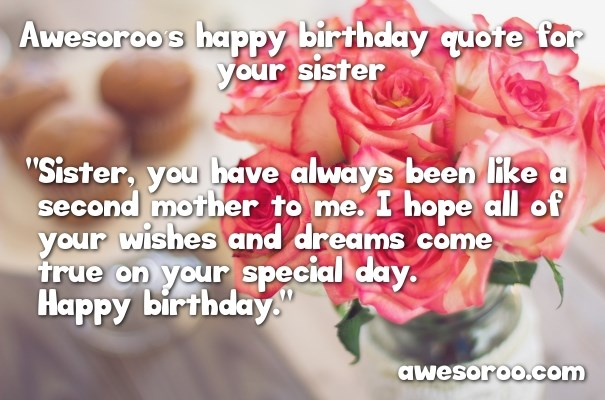 birthday message to a brother from another mother ; roses-for-her-birthday
