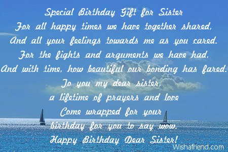 birthday message to a cousin sister ; 2012-sister-birthday-poems