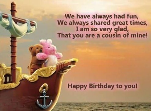 birthday message to a cousin sister ; 49c4814b4d114962a5b2d22f156a669d
