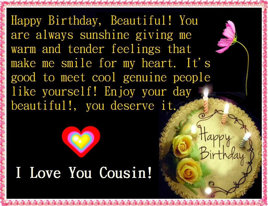 birthday message to a cousin sister ; Happy-Birthday-cousin