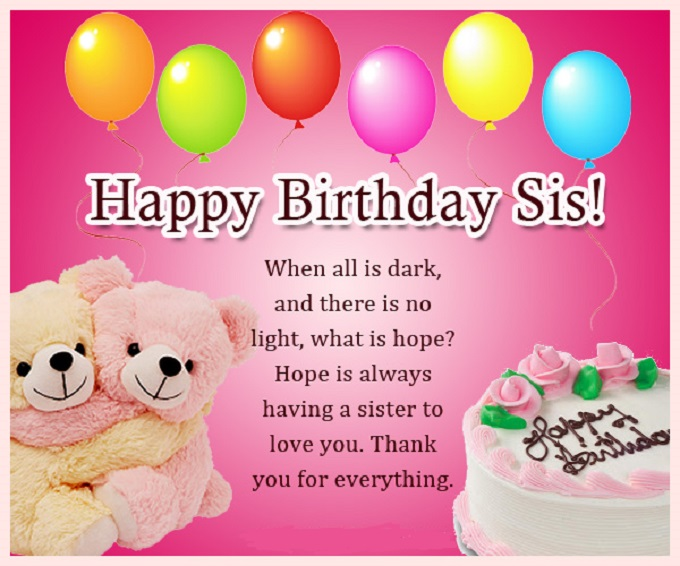 birthday message to a cousin sister ; birthday-wishes-for-sis-789