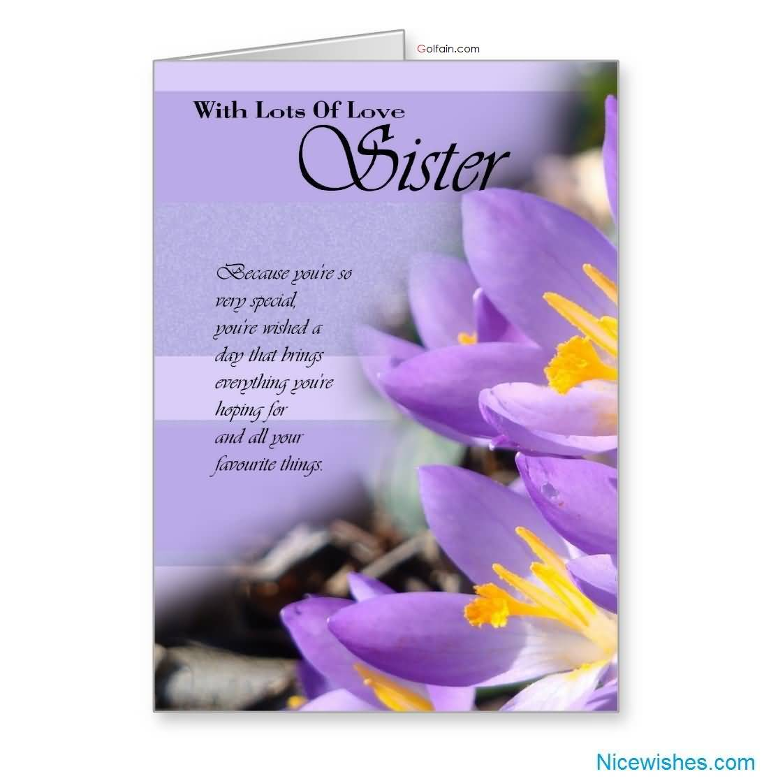 birthday message to a lovely sister ; Beautiful-Purple-E-Card-Birthday-Wishes-For-Lovely-Sister
