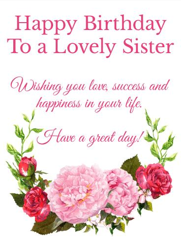 birthday message to a lovely sister ; b_day_fsi19-73535f16daef359ad5a518c407e0ac51
