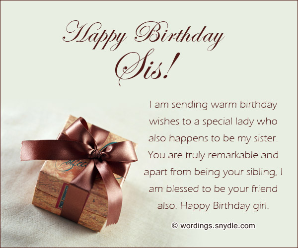 birthday message to a lovely sister ; beautiful-birthday-messages-for-sister