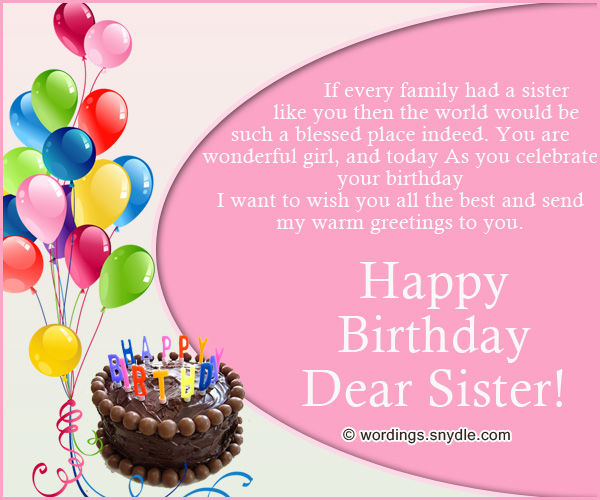 birthday message to a lovely sister ; best-sister-birthday-wishes-and-greetings