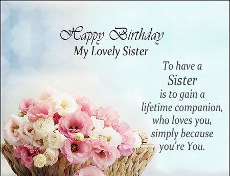 birthday message to a lovely sister ; d0e455db3bd34802f4b2d2326c95540f