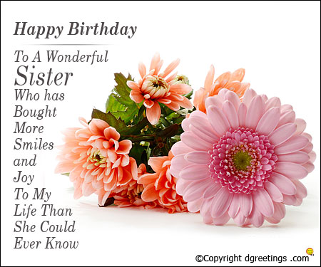 birthday message to a lovely sister ; sis-birthday-card2
