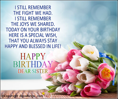 birthday message to a lovely sister ; sister-birthday05