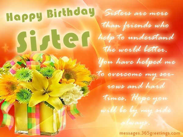 birthday message to a lovely sister ; sister-birthday4r
