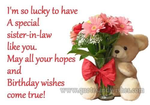 birthday message to a lovely sister ; sweet-teddy-birthday-wishes-for-lovely-sister-in-law-greetings