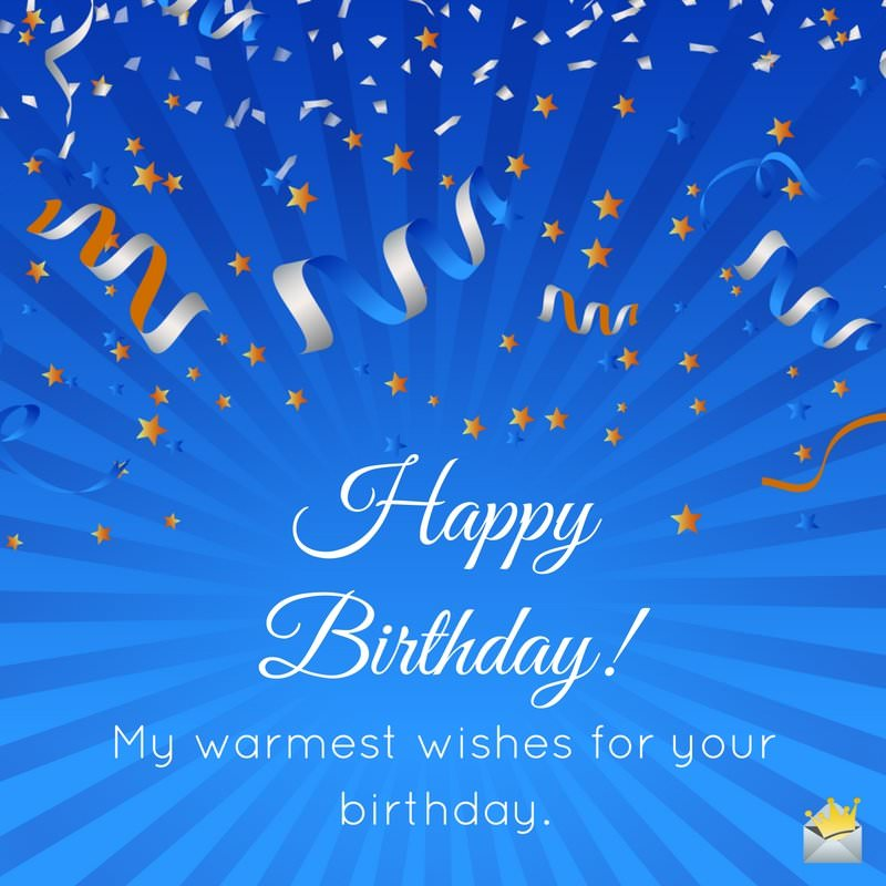 birthday message to a man of god ; Warm-birthday-wish-for-good-friend-on-background-with-confetti
