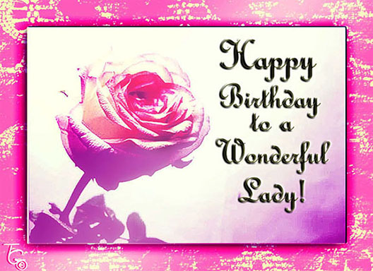 birthday message to a special lady ; 307667
