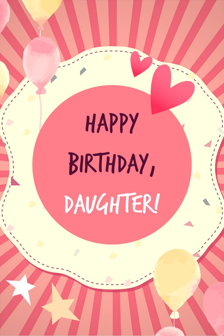 birthday message to baby daughter ; Happy-BirthdayDaughter-MSG