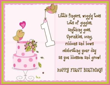 birthday message to baby daughter ; nice-birthday-wishes-for-little-girl-greetings
