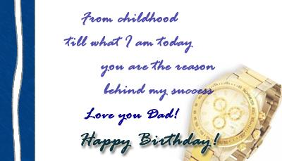 birthday message to my dad ; 308232