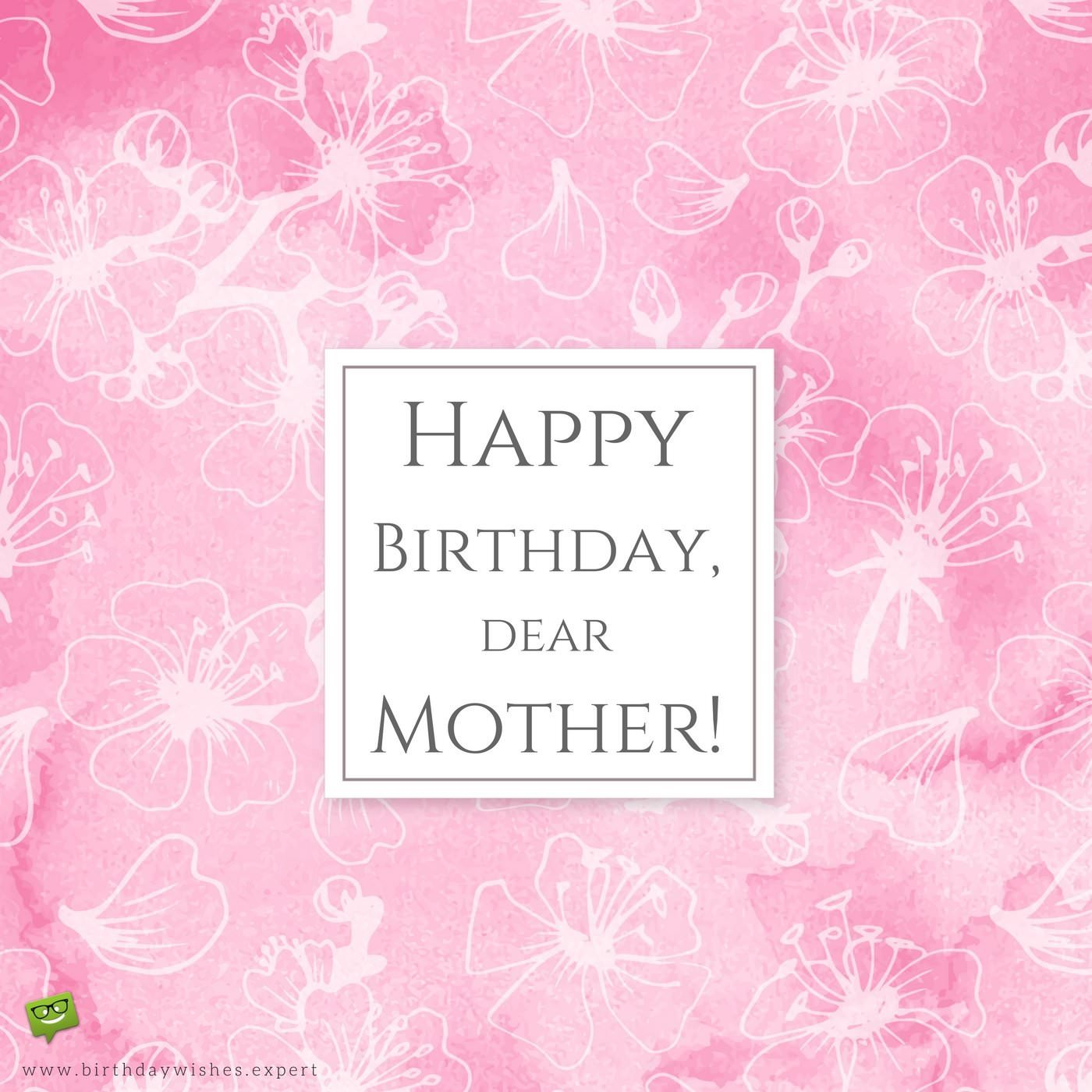 birthday message to my mom ; Elegant-birthday-wish-for-my-mother-on-pink-background