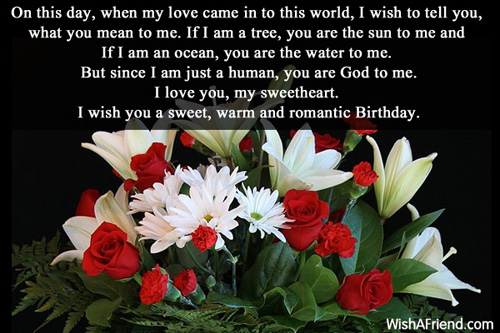 birthday message to my sweetheart ; 421-love-birthday-messages