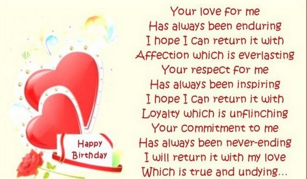 birthday message to my sweetheart ; sweet-happy-birthday-poems-for-her