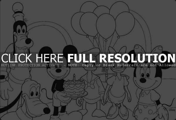 birthday minnie mouse coloring pages ; birthday-mickey-mouse-coloring-pages-600x409