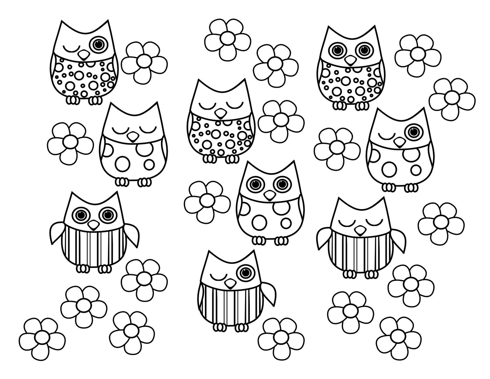 birthday owl coloring pages ; 5e180c036bc828f7521baa1c2a26cb6f