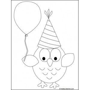 birthday owl coloring pages ; a38d1fd19a2ec0aecccb00478b3baa1c