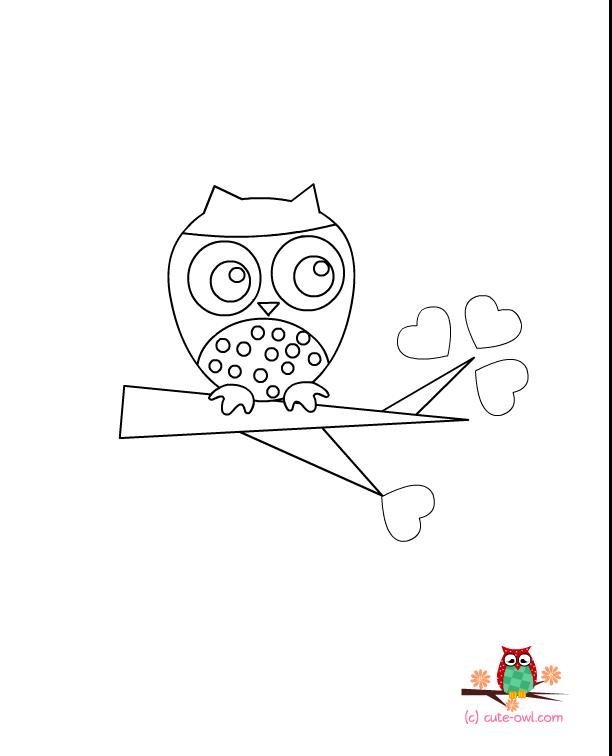 birthday owl coloring pages ; cute-owl-coloring-page-1