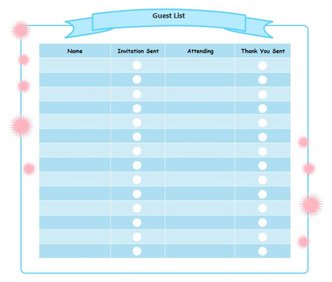 birthday party guest list template excel ; birthday-party-guest-list