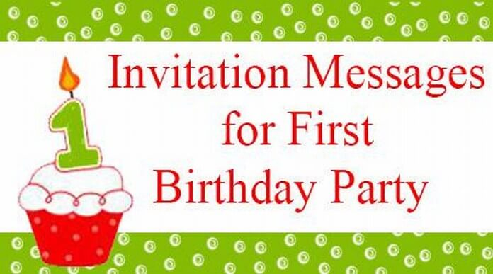 birthday party invitation sms ; invitation-messages-first-birthday-party