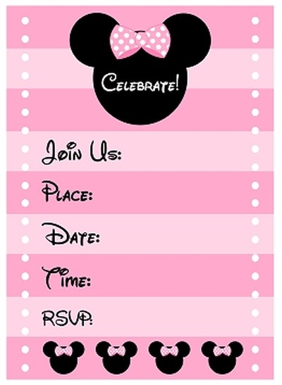 birthday party invitation template free online ; Free-Minnie-Mouse-Birthday-Party-Invitation-template