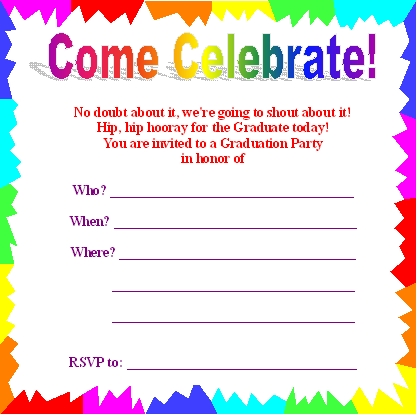 birthday party invitation template free online ; Make-Your-Own-Cute-Party-Invitations-Free