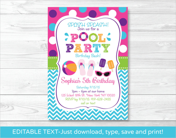birthday party invitation template free online ; pool-party-invitations-templates-free-including-remarkable-Party-Invitation-Templates-with-full-of-pleasure-environment-12