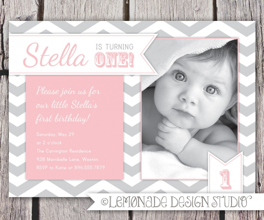 Birthday Party Invitation Wording For 1 Year Old One