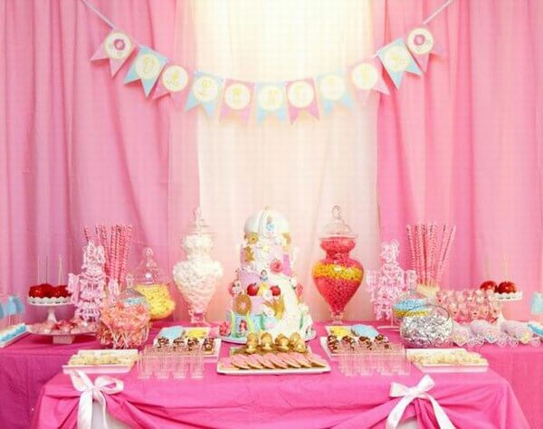 birthday party themes for girls ; fairy-princess-1st-birthday-theme-girls