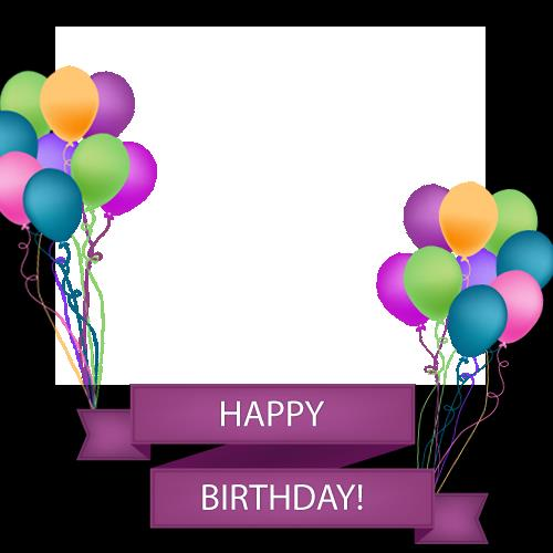 birthday photo frames free online editing ; 1455790449Happy%2520Birthday%2520Photo%2520Frame%2520With%2520Colorful%2520Balloons%2520and%2520Photo