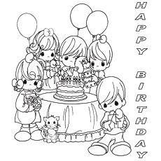 birthday pictures to colour ; The-Happy-Birthday-From-Fun-Friends
