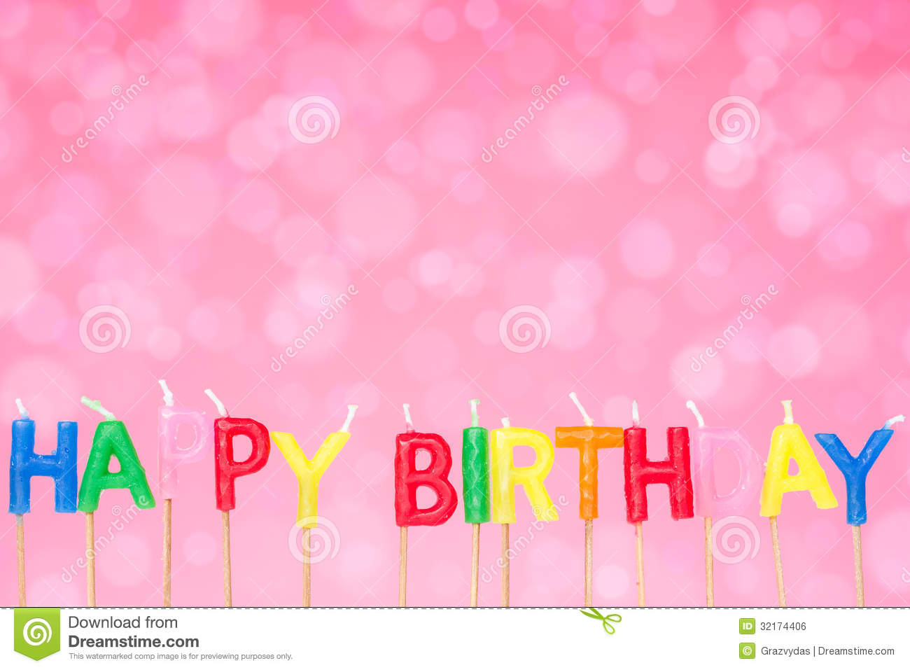 birthday pink background ; birthday-candles-pink-background-happy-festive-32174406