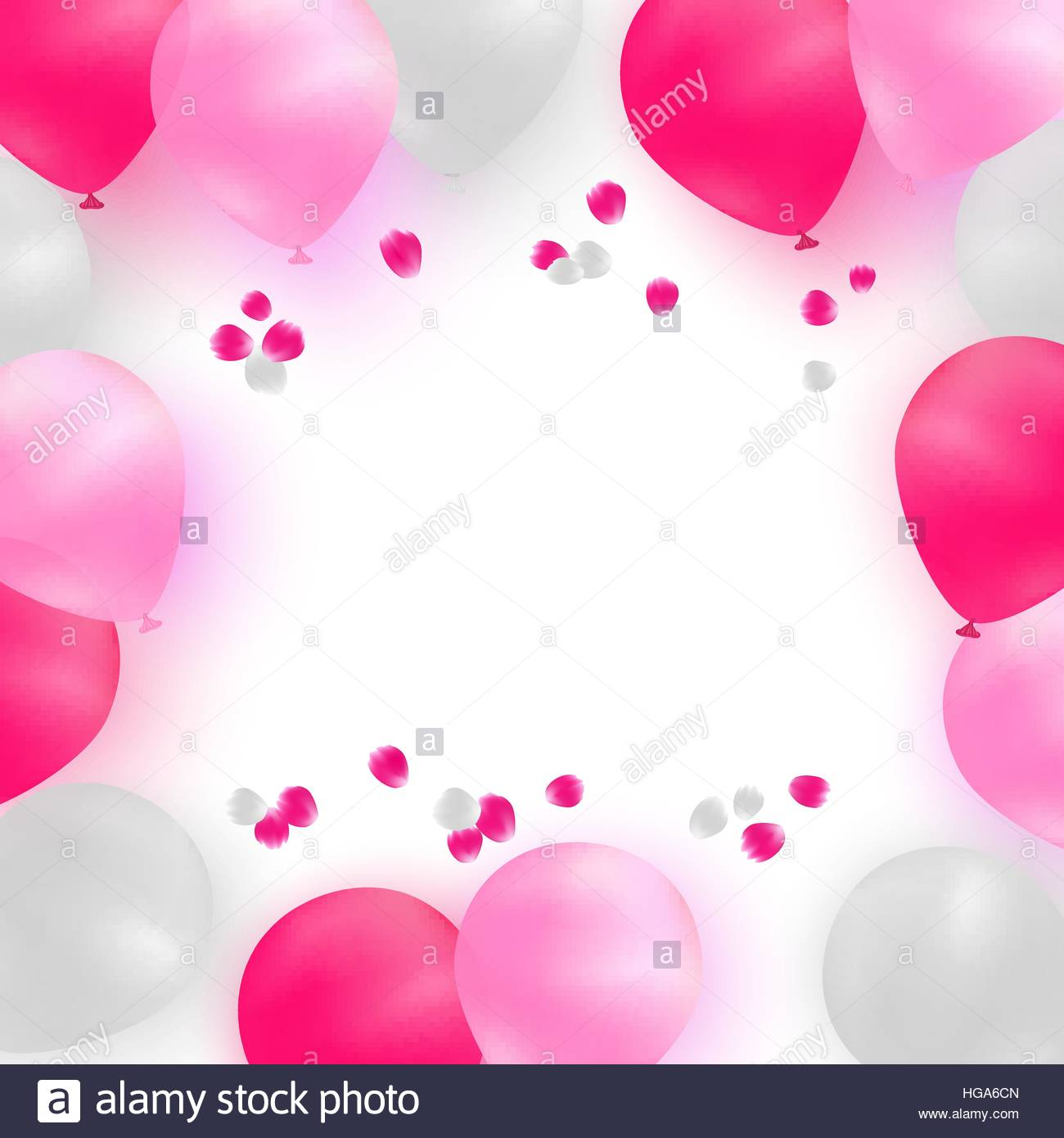 birthday pink background ; greeting-card-template-for-wedding-birthday-mothers-day-white-and-HGA6CN
