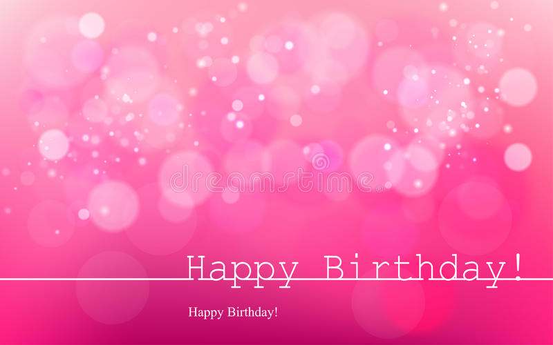 birthday pink background ; happy-birthday-vector-inscription-pink-background-bokeh-light-card-design-vector-blurred-soft-background-image-64895393