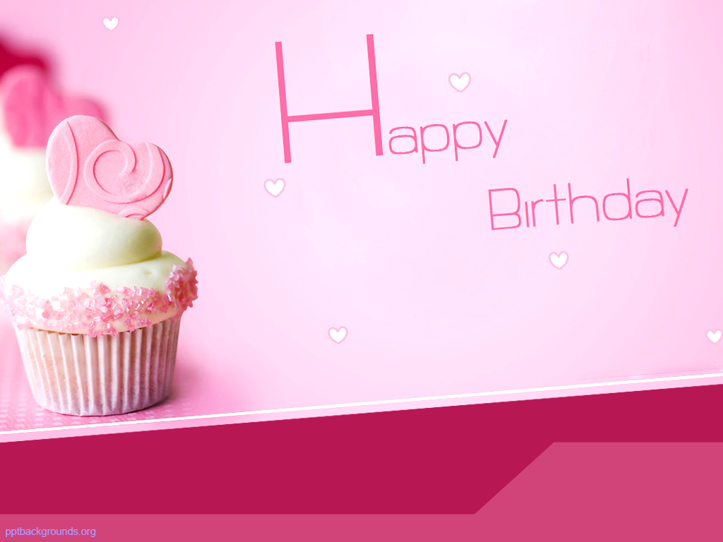 birthday pink background ; pink-happy-birthday-with-cake-powerpoint-templates