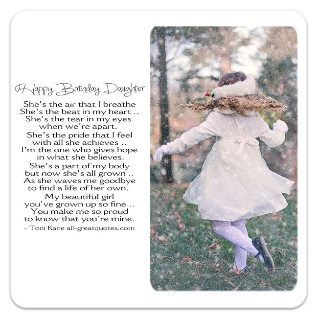 birthday poem for a daughter from mother ; dad-daughter-mom-daughter-poem